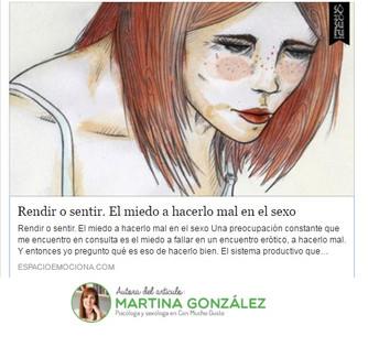 RENDIR O SENTIR. EL MIEDO A HACERLO MAL EN EL SEXO