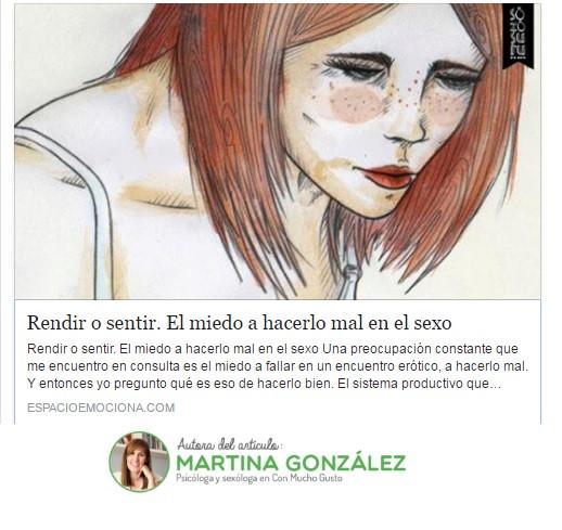 Espacio Emociona Martina González Veiga