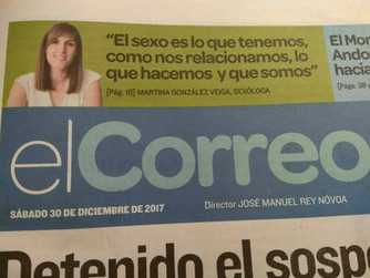 Entrevista para la sección Oro en Paño de El Correo Gallego