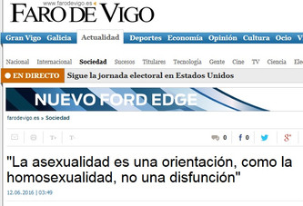 """""""La asexualidad es una orientación, como la homosexualidad, no una disfunción"""""""