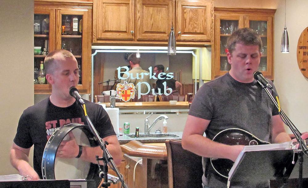 Pat & Matt Burke at Shenanigans Band Practice