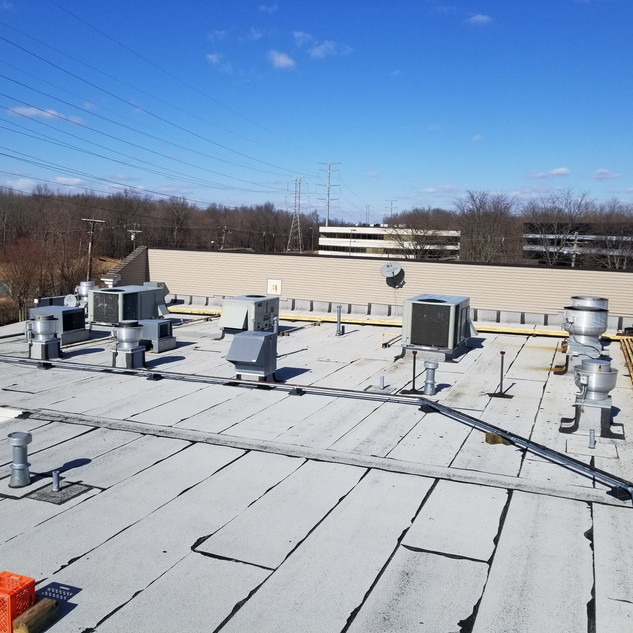 Rooftop Gas Line Installation