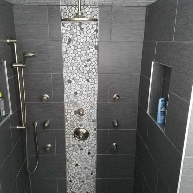 Shower with Body Sprays