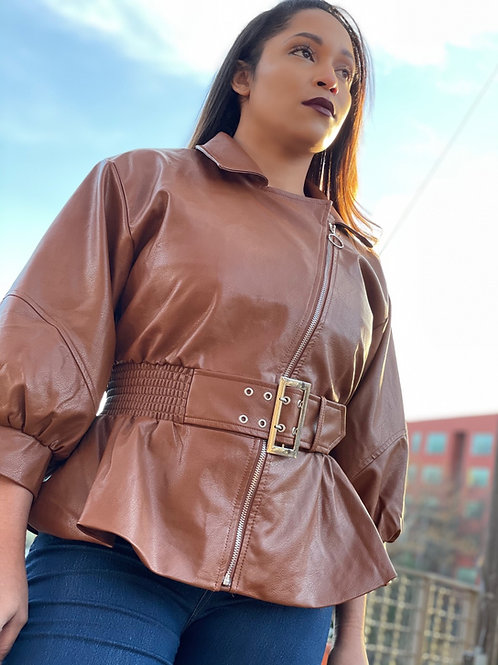 Stay Angelic Faux Leather Jacket