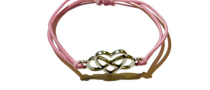 infinite heart elastic bracelet - small