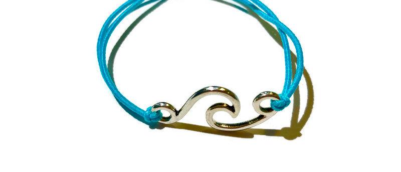 curly surf wave elastic bracelet - small