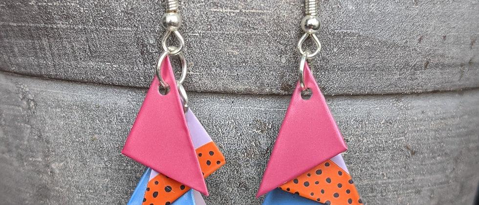 feelin' fruity recycled can earrings