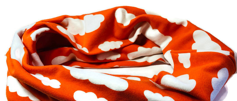 orange clouds neck scarf