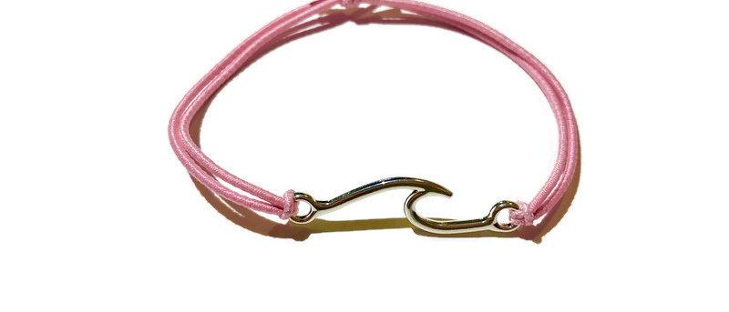 wide surf wave elastic bracelet - small