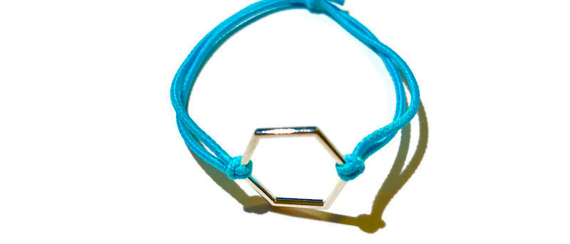 simple hexagon elastic bracelet - small