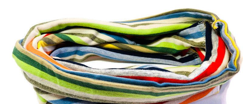 muted rainbow neck scarf