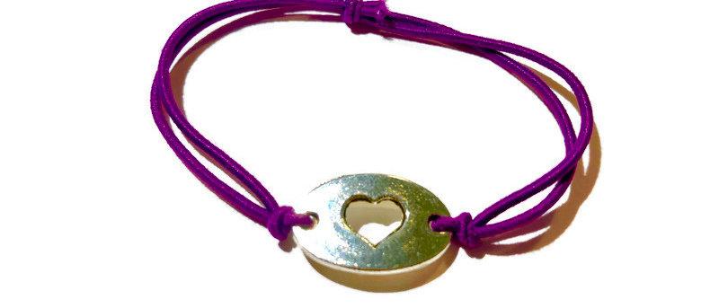 heart elastic bracelet - small