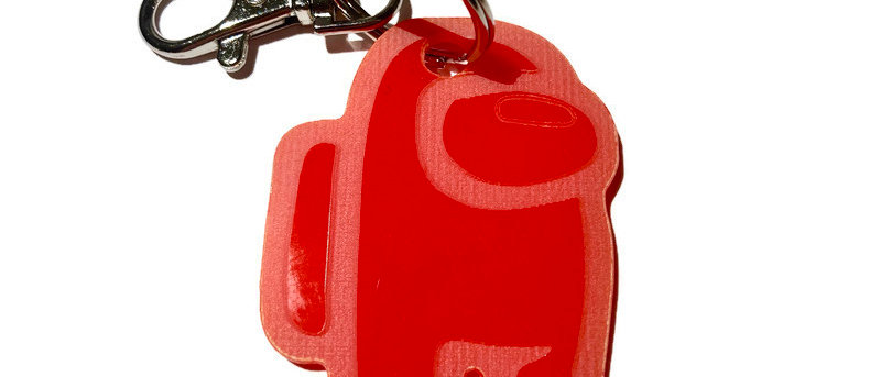 Among Us player keyring
