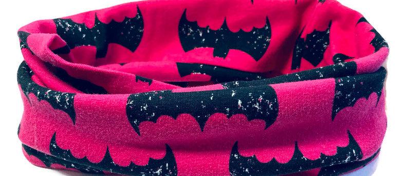 hot pink bats neck scarf