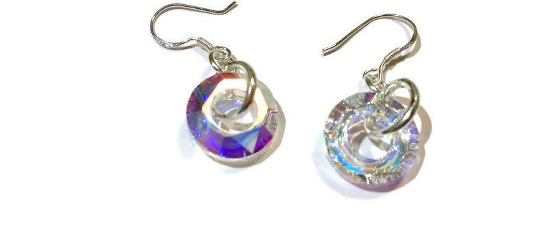 Swarovski crystal ring earrings