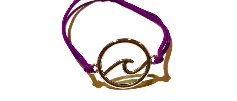 surf circle elastic bracelet - small