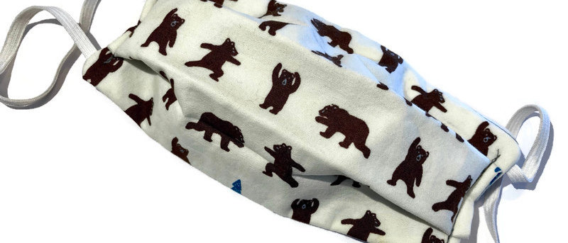 small bears / grey polka dots - small