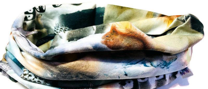 winter animals neck scarf