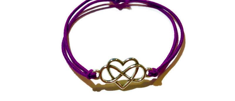 infinite heart elastic bracelet - large