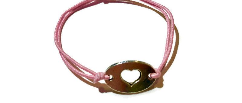 heart elastic bracelet - large