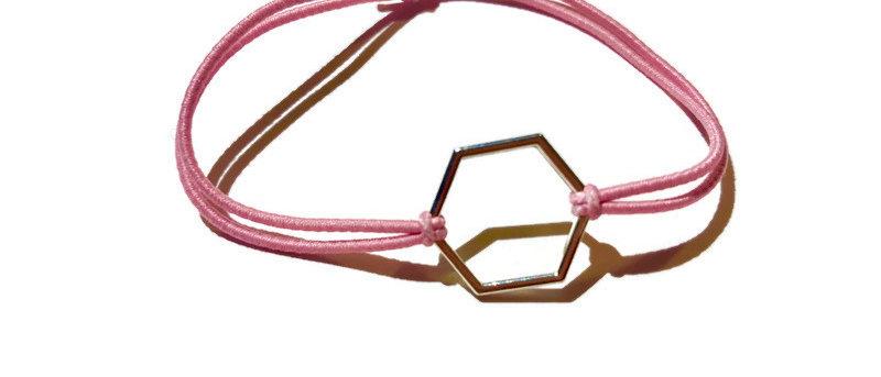 simple hexagon elastic bracelet - large
