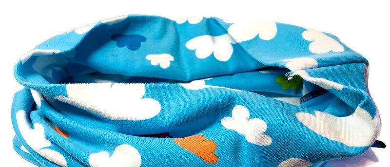 blue clouds neck scarf