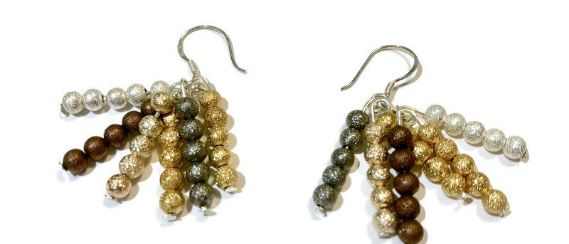 metallic sparkle bead earrings