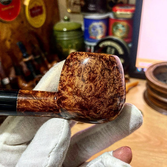 SOLD Pipe 354, 3 star straight apple