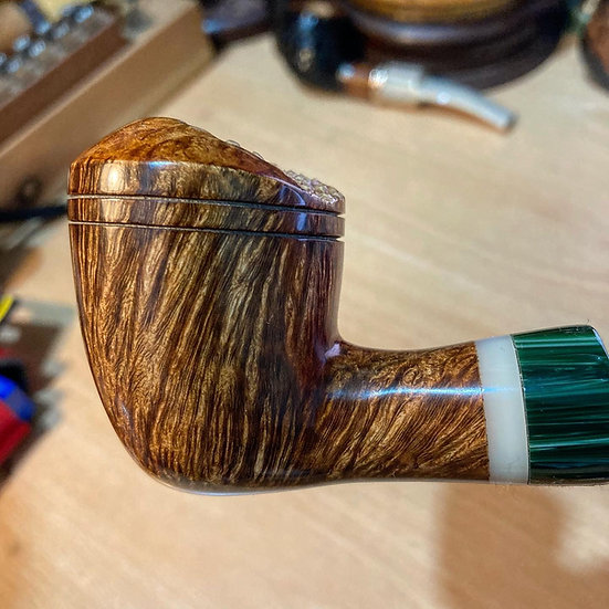 Pipe 296 SOLD Green Stubby Rhody