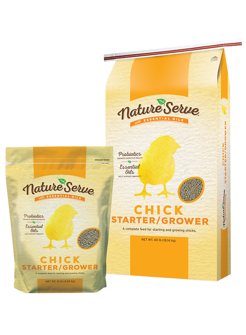 NatureServe Chick Starter_10 lb_and_40 l