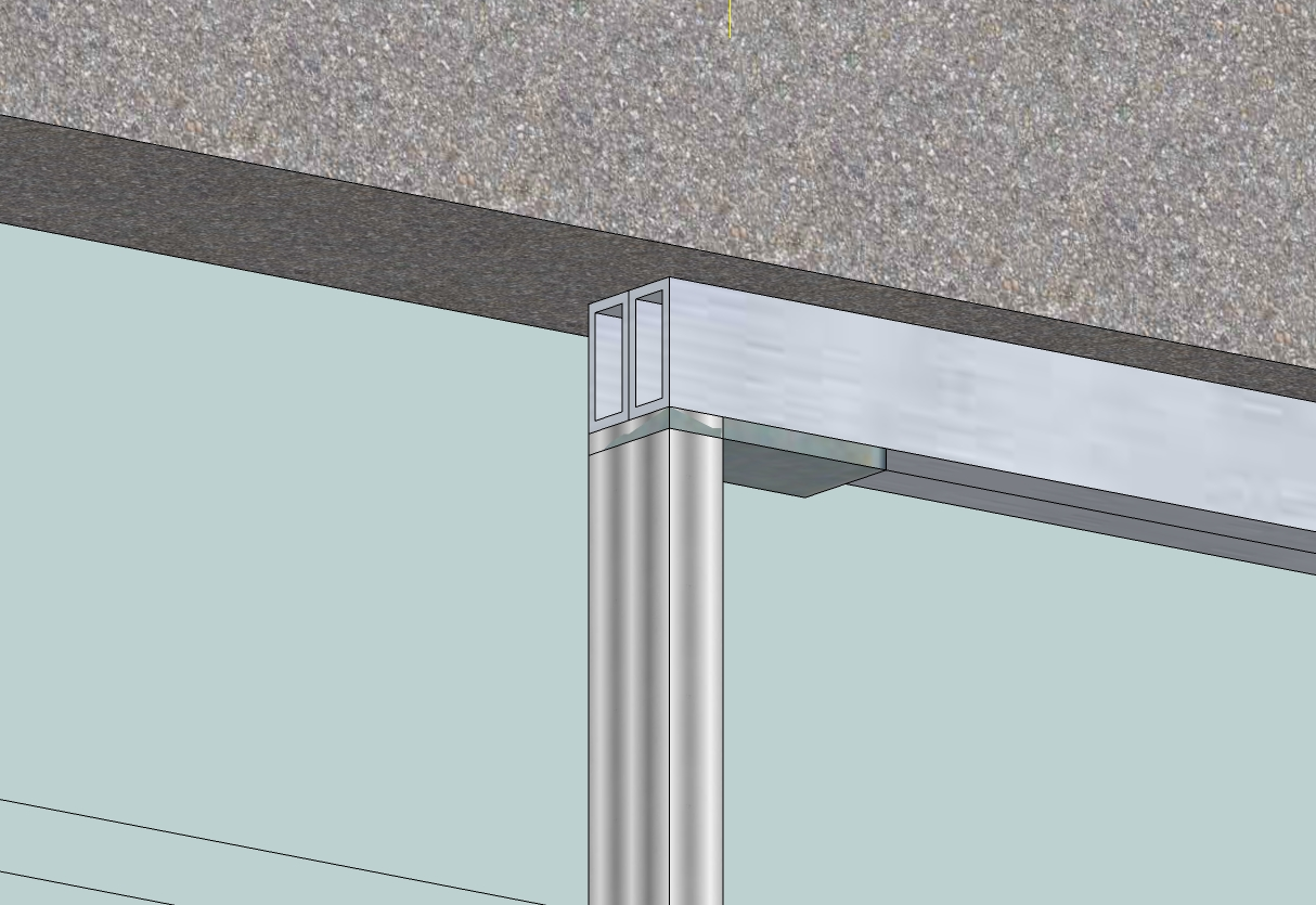 Steel supporting frame