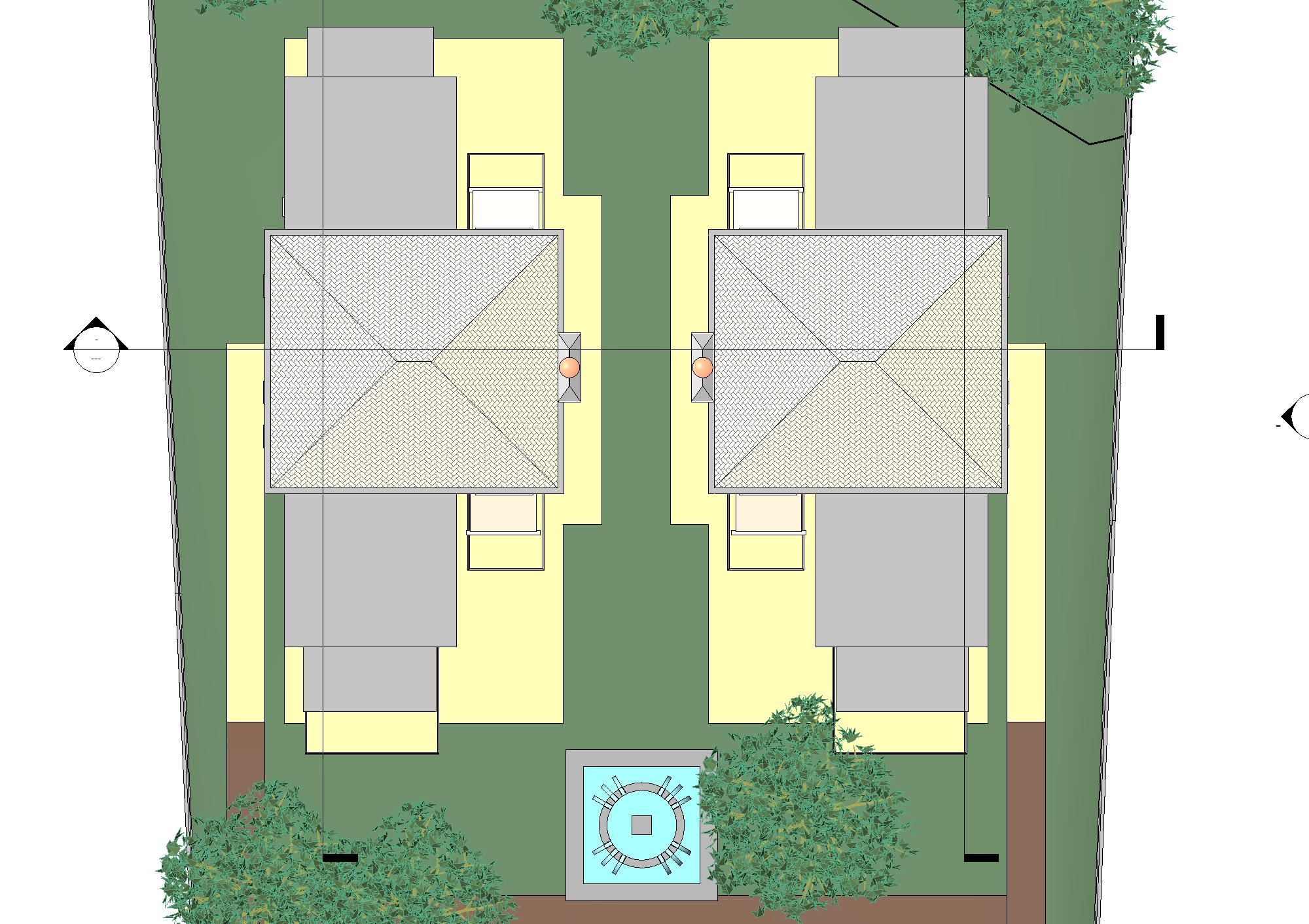Archiectural design of 2 villas