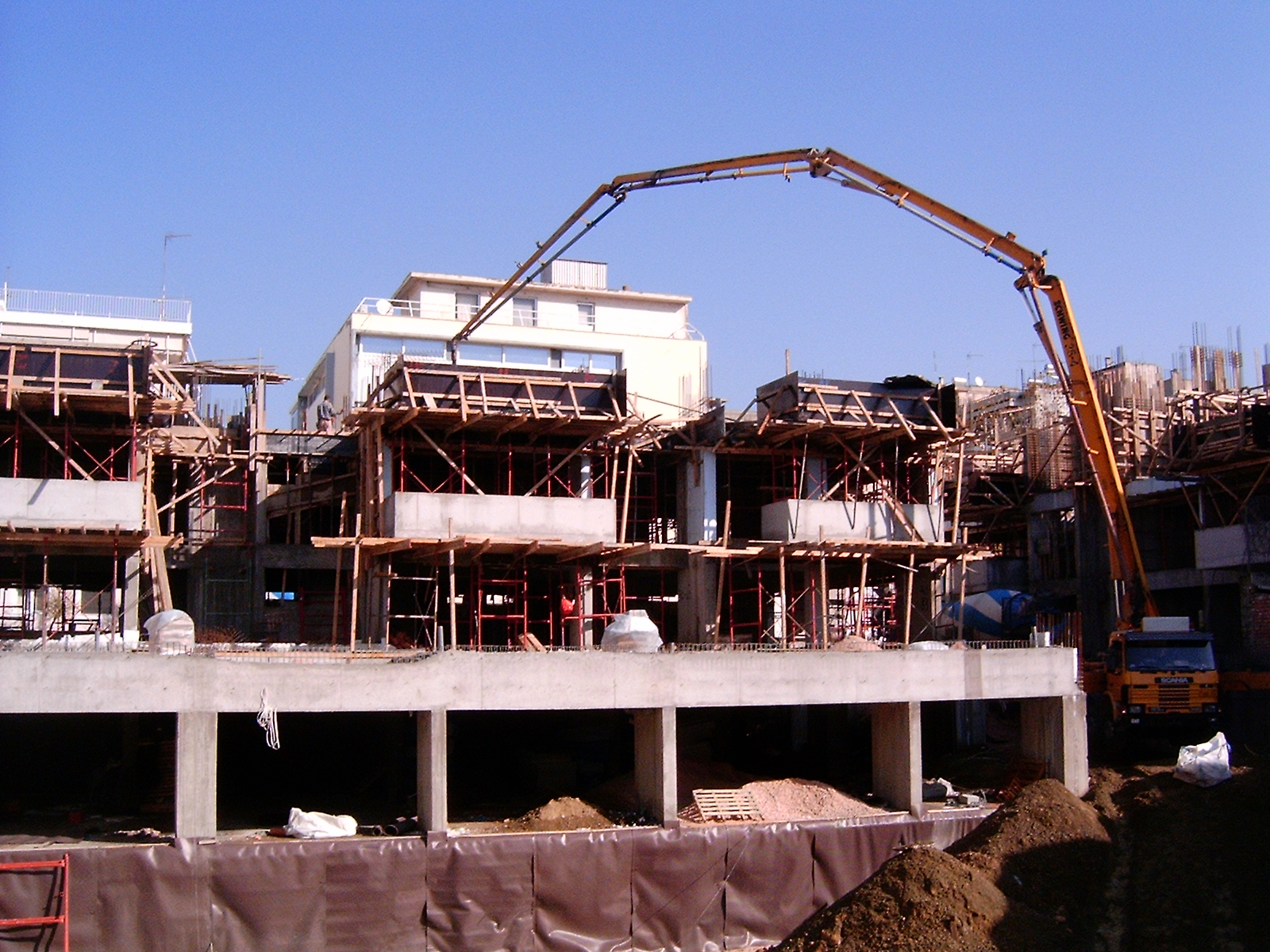 General view A & B - concreting