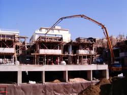 General view A & B - concreting