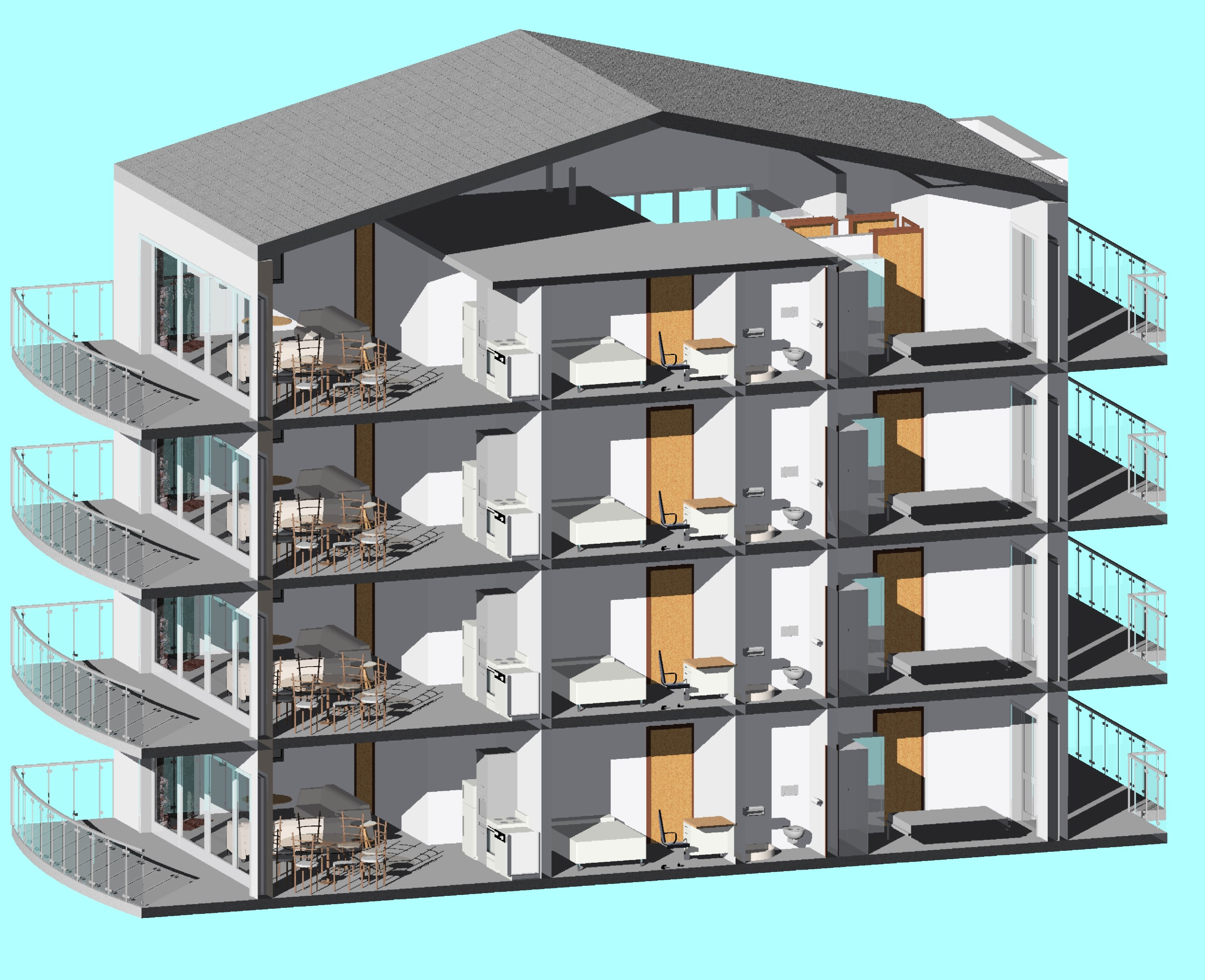 4-storey appartment building
