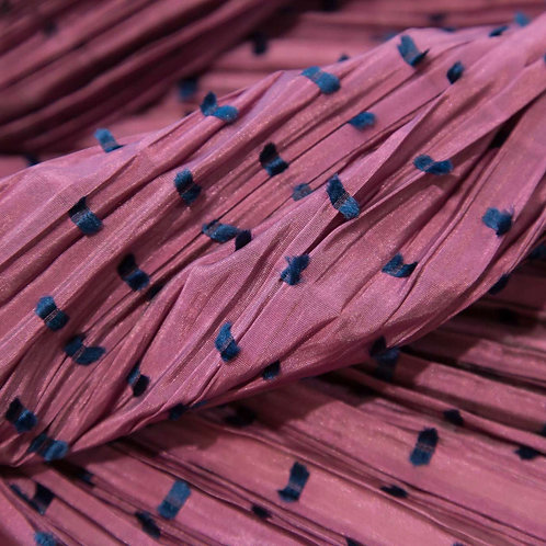 Ebre Pink Dis.60 Pleated Fabric