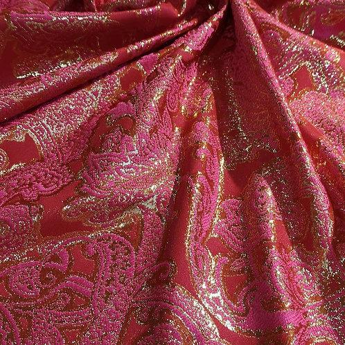 Old time Colour Fuchsia Red Jacquard