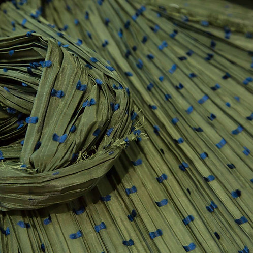 Ebre Green Dis.60 Pleated Fabric