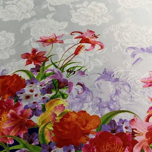 Raso Jacq. Dis. Oropa Floral Taffeta