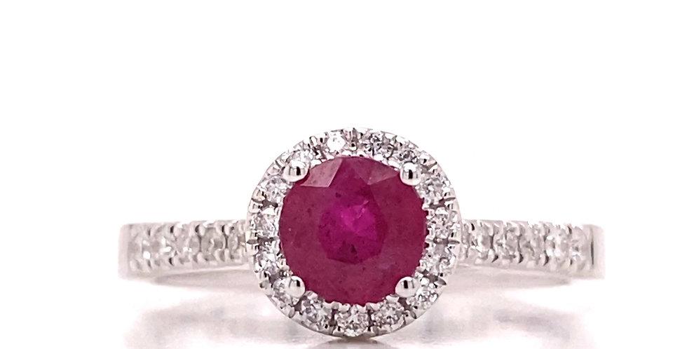 Vintage Inspired Ruby & Diamond Ring