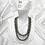 Thumbnail: Tahitian Silver Green Double-Strand Pearl Necklace