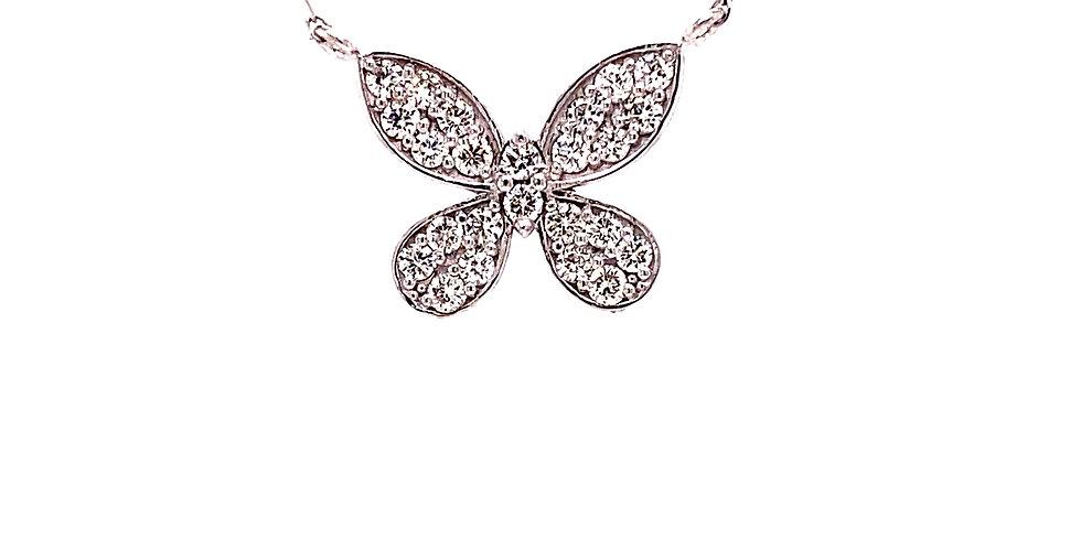 Diamond Butterfly Neckalce
