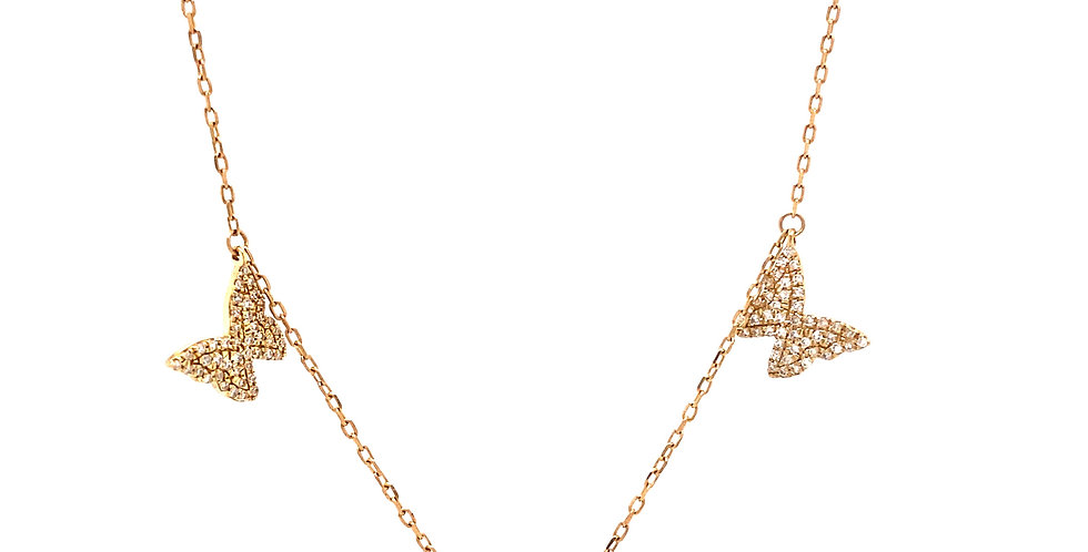 Butterfly Station Necklace