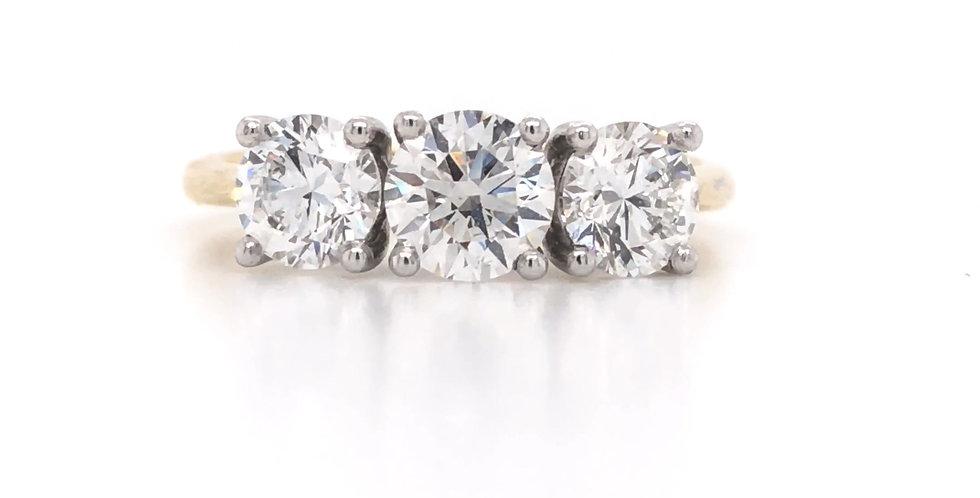 3-Stone Trellis Diamond Engagement Ring