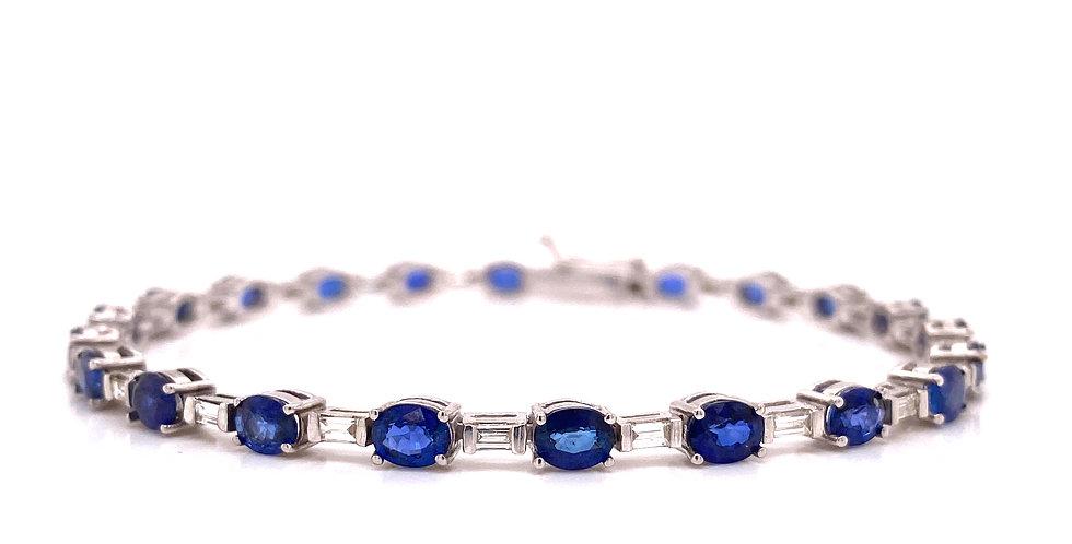Sapphire & Diamond Tennis Bracelet