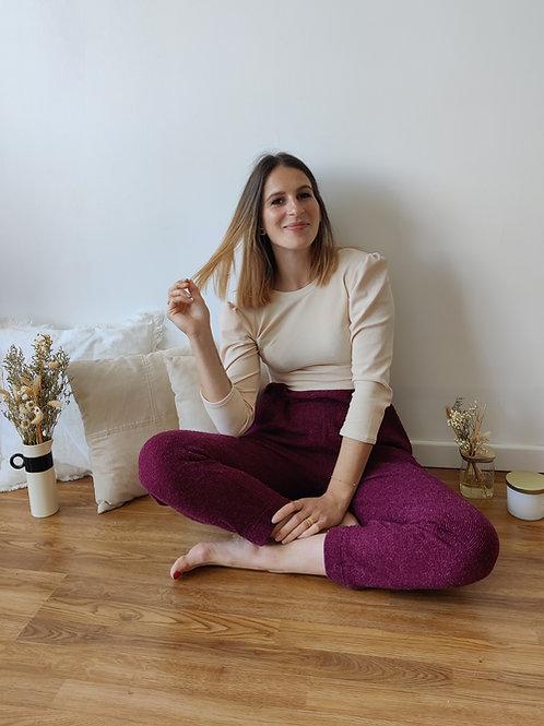 Kit Tee-shirt Marion Jersey côtelé rose pâle