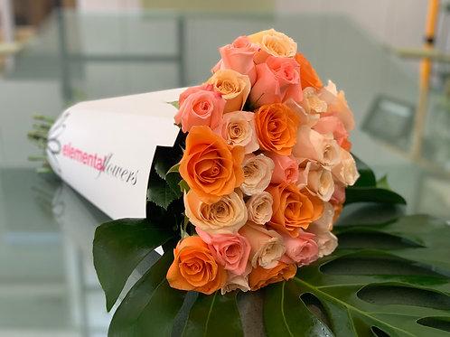 Cono rosas especial día de la madre