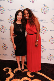 Jamie Shum with long-time publicist for Beyoncé and entertainment PR professional Yvette Noel-Schure at the 32nd Annual PRSA-NY's Big Apple Awards Gala on Monday, June 24, 2019.