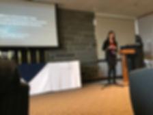 Jamie Shum presenting at Ithaca College's 2017 James J. Whalen Academic Symposium.