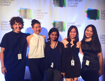 Group picture with Spring 2016 Interns at Lower Manhattan Cultural Council's The Downtown Dinner fundraising and art gala.